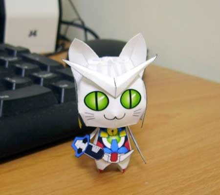 Anime Cat Gundam Exia Papercraft
