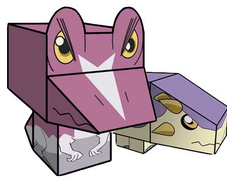 Dinosaur King Paper Toys - Spiny and Tank