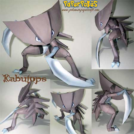 Pokemon Kabutops Papercraft 2