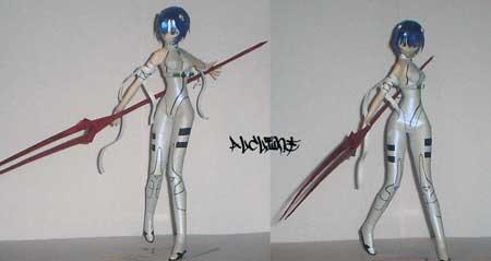 Neon Genesis Evangelion Papercraft Rei Ayanami v2