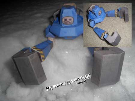 Mega Man Legends Hornisse Papercraft