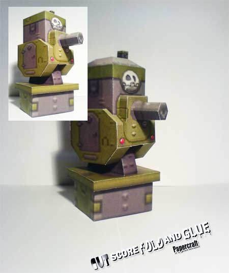 Gun Battery Papercraft