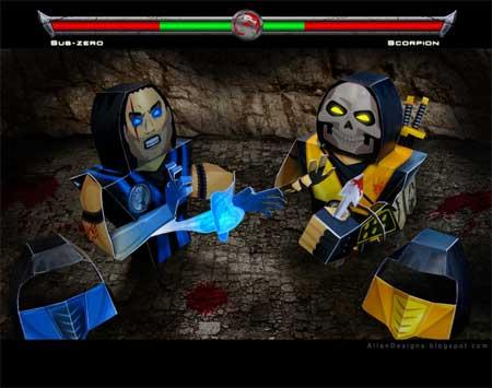 Mortal Kombat Papercraft