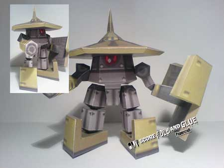 Mega Man Legends Gorbesh Papercraft