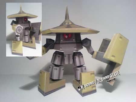 Mega Man Legends Gorbesh Papercraft