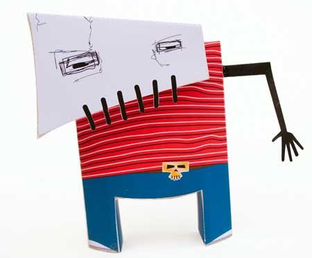 Skullboy Paper Toy