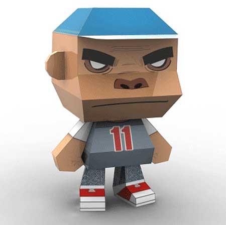 Gorillaz Paper Toy Russel Hobbs