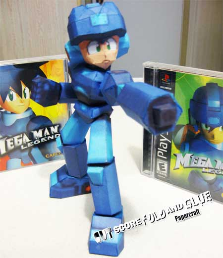 Mega Man Legends Mega Man Volnutt Papercraft 2