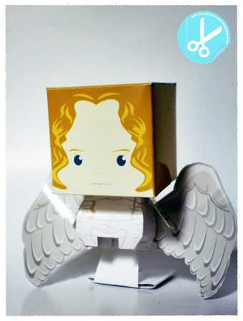 Constantine Half-Breed Angel Gabriel Papercraft
