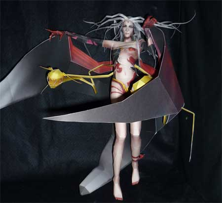 Dissidia Final Fantasy Cloud of Darkness Papercraft