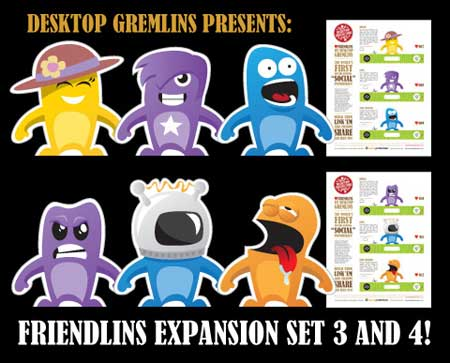 Desktop Gremlins Friendlins Paper Toy