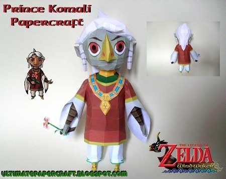 Prince Komali Papercraft