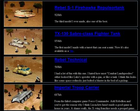 Star Wars Papercraft Tanks Turrets Transport Carriers