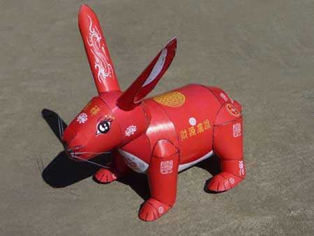 2011 Year of the Rabbit Papercraft Stahlhart