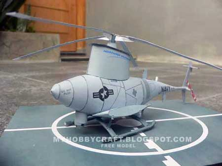 Northrop Grumman MQ8 Fire Scout Papercraft