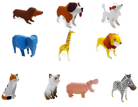 Fuji Xerox Zoo Animals and Pets Papercraft
