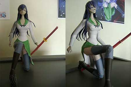 Highschool of the Dead Papercraft Saeko Busujima