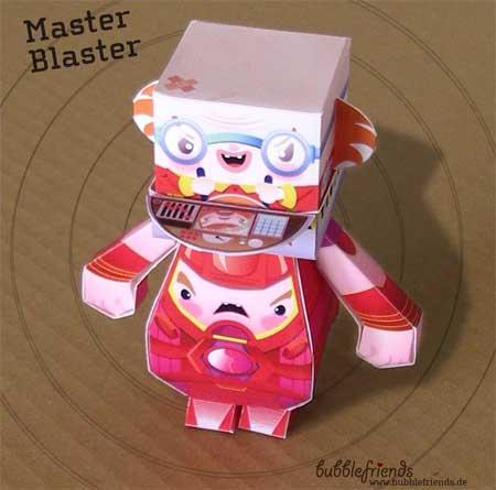 Dumpy Paper Toy Master Blaster