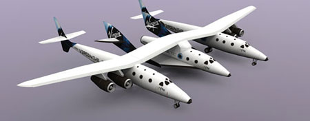 Virgin Galactic SpaceShipTwo White Knight Two Papercraft