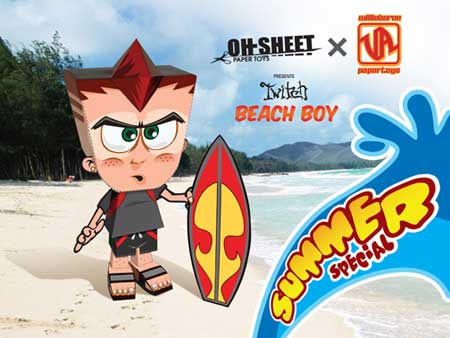 Twitch Paper Toy Beach Boy