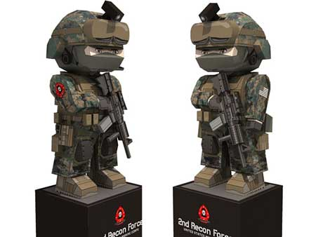 United States Marine Corps Papercraft 2nd Recon