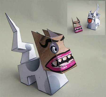 MASKdog Paper Toy