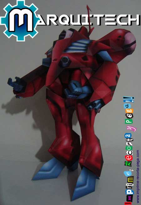 Macross Papercraft Queadluun Rau Battle Suit