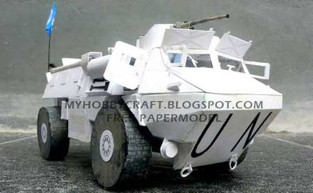 United Natinos Armored Vanguard Vehicle Papercraft
