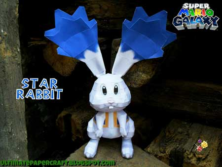 Super Mario Galaxy Star Bunny Papercraft