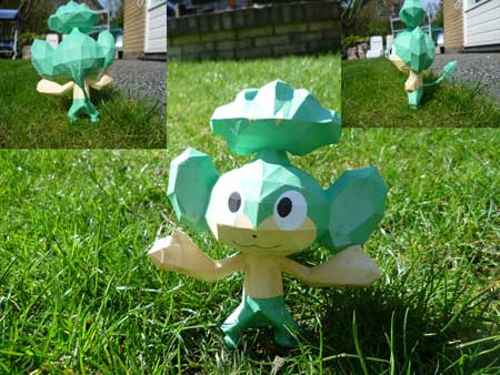 Pokemon Pansage Papercraft