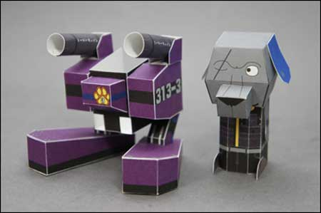 Coro Power Armored Dog Papercraft