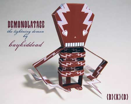 Demonolatage Paper Toy