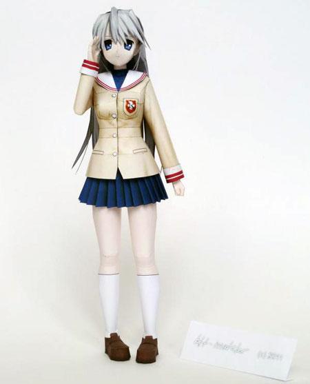 Clannad Papercraft Sakagami Tomoyo