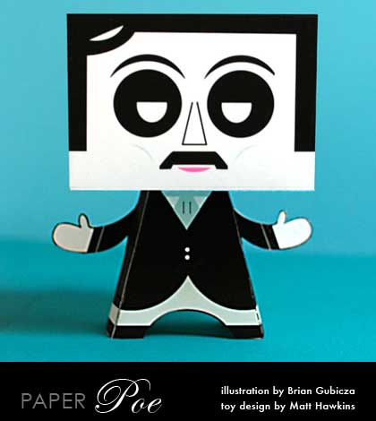 Edgar Allan Poe Paper Toy