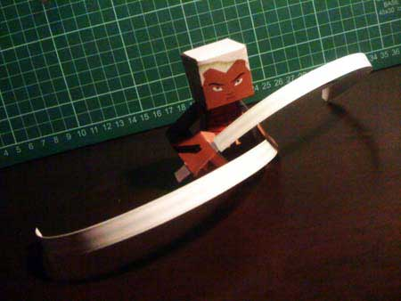 Young Justice Aqualad Papercraft