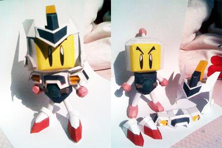 Bomberman BDaman Bakugaiden Papercraft Shirobon Armor