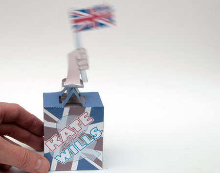 Automatic Flag Flying Device Papercraft Royal Wedding 2011