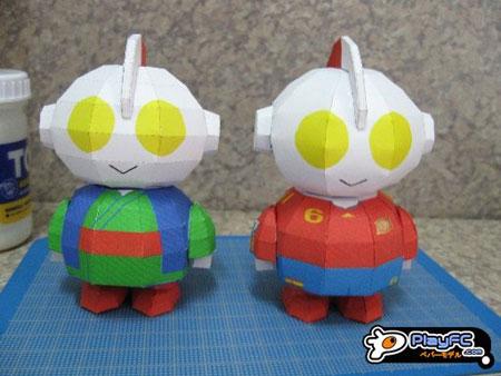 SD Ultraman Papercraft Jinbei Iniesta