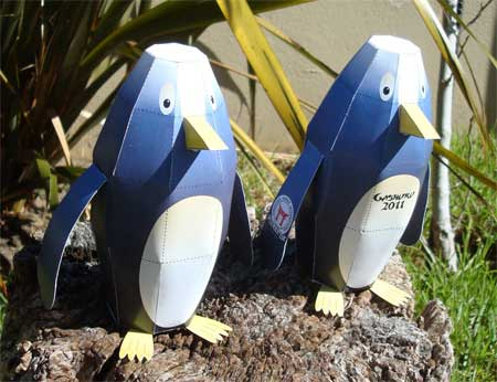 2011 South African Gasshuku Penguin Paper Toy