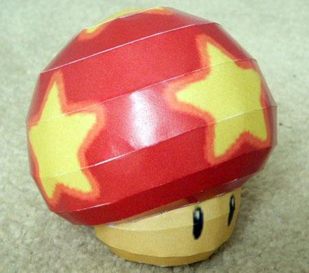 Super Mario Galaxy - Life Mushroom Papercraft