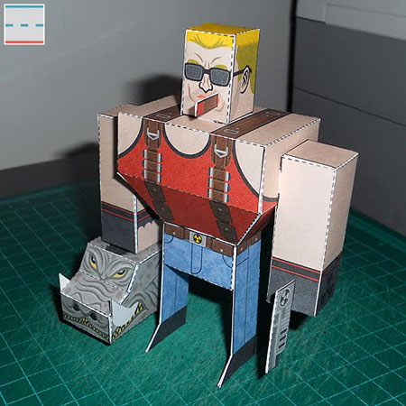 Official Duke Nukem Forever Papercraft