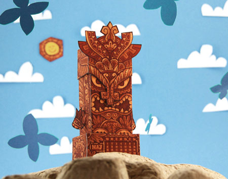 2011 Tiki Calendar Papercraft May