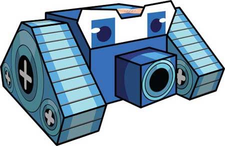 RoboArena Papercraft Blue Robo