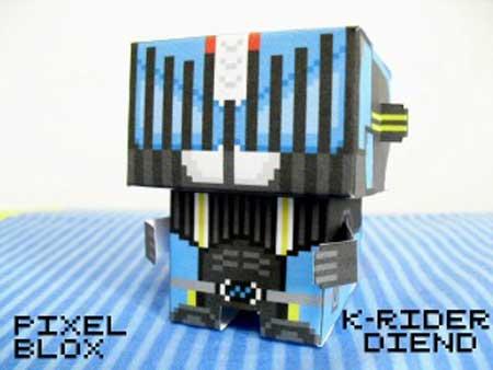 PixelBlox Paper Toy Kamen Rider Diend