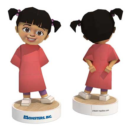 Monster Inc Papercraft - Boo