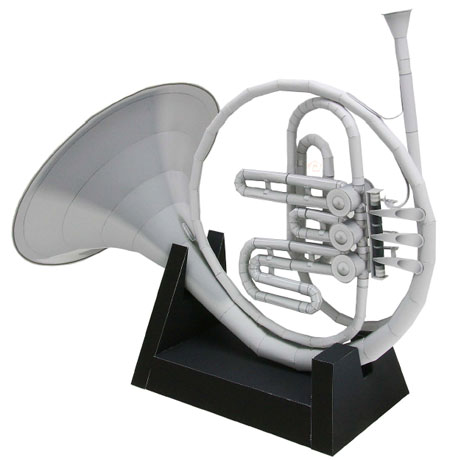 French Horn Papercraft