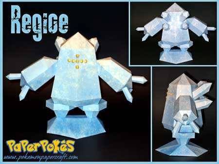 Pokemon Regice Papercraft