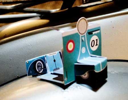 Vespaper Vespa Paper Toy