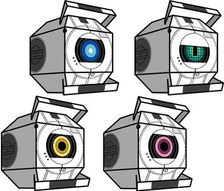 Portal 2 Personality Sphere Papercraft