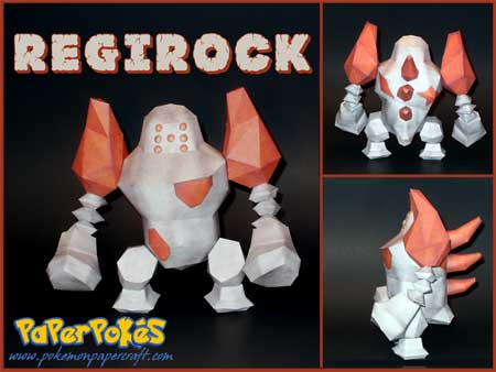 Pokemon Regirock Papercraft